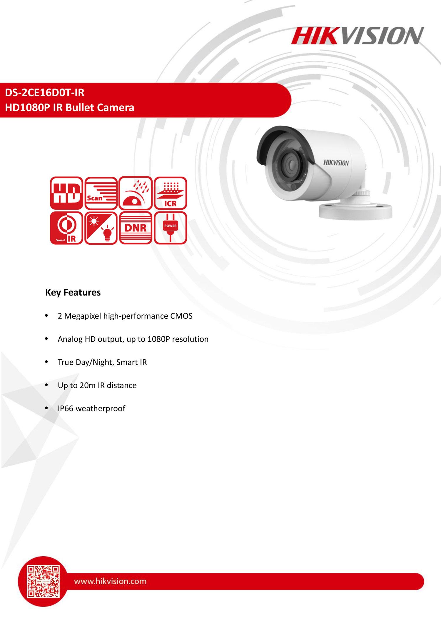 CCTV DS-2CE16D0T-IR กล้องวงจรปิด Hikvision